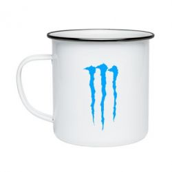 Кружка емальована Monster Energy Stripes 2