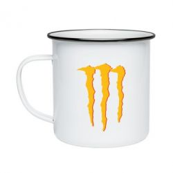 Кружка емальована Monster Lines