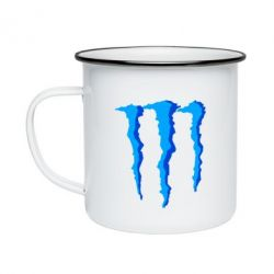Кружка емальована Monster Stripes