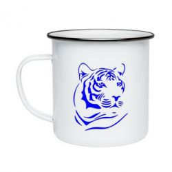 Кружка эмалированная Морда тигра