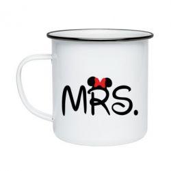 Кружка эмалированная Mrs.