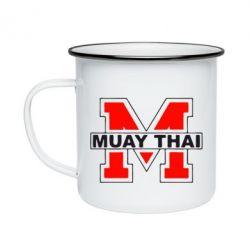 Кружка емальована Muay Thai Big M