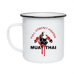 Кружка эмалированная Muay Thai Full Contact