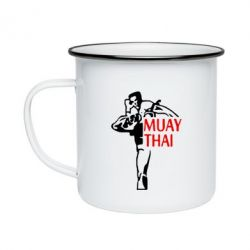 Кружка емальована Muay Thai kick