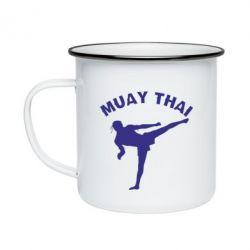 Кружка емальована Muay Thai