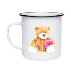 Кружка емальована М'який ведмедик