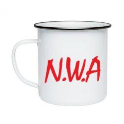 Кружка эмалированная N.W.A Logo