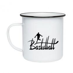 Кружка эмалированная Надпись Баскетбол