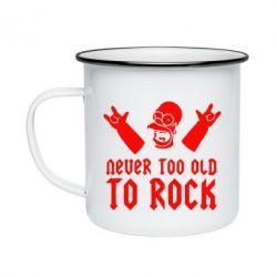 Кружка эмалированная Never old to rock (Gomer) - FatLine