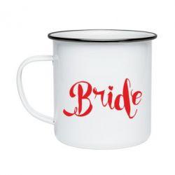 Кружка эмалированная Невеста
