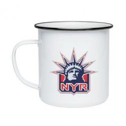 Кружка эмалированная New York Rangers - FatLine