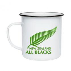 Кружка емальована new zealand all blacks