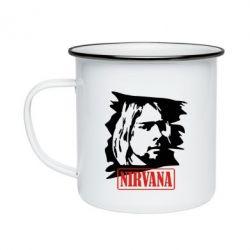 Кружка эмалированная Nirvana Kurt Cobian