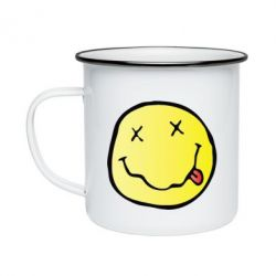 Кружка емальована Nirvana Logo 3D