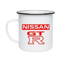 Кружка емальована Nissan GT-R