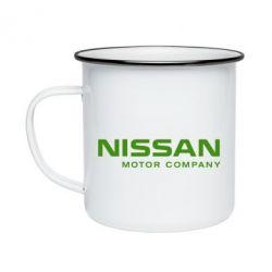Кружка емальована Nissan Motor Company