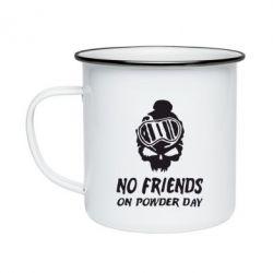 Кружка эмалированная No friends on powder day - FatLine