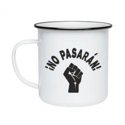 Кружка емальована No Pasaran