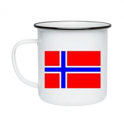 Кружка емальована Норвегія