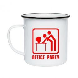 Кружка эмалированная Office Party
