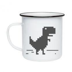 Кружка эмалированная Offline T-rex - FatLine