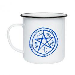 Кружка емальована Окультний символ Надприродне