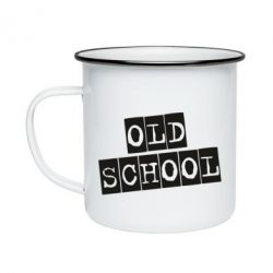Кружка емальована old school