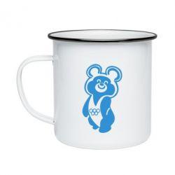 Кружка емальована Олімпійський Ведмедик