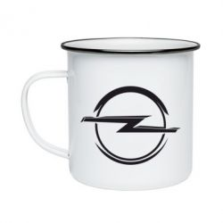 Кружка емальована Opel Log