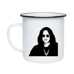Кружка емальована Ozzy Osbourne особа
