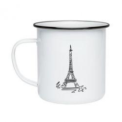 Кружка эмалированная Paris