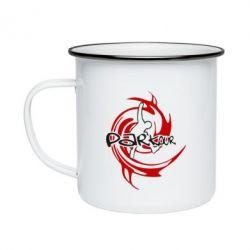 Кружка эмалированная Parkour Logo - FatLine