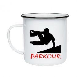 Кружка эмалированная Parkour Run