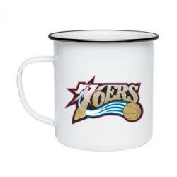 Кружка емальована Philadelpia 76ers
