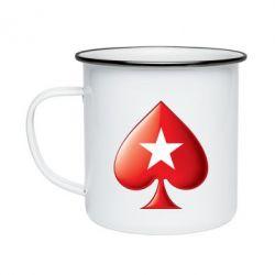 Кружка емальована Poker Stars 3D Logo