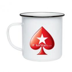Кружка емальована Poker Stars Game