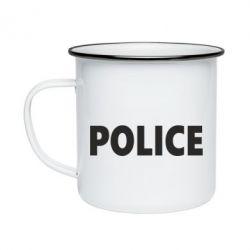 Кружка эмалированная POLICE