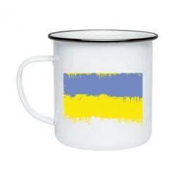 Кружка емальована Потертий прапор України