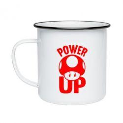 Кружка емальована Power Up Маріо гриб