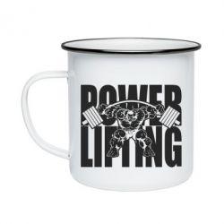 Кружка емальована Powerlifting logo