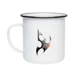 Кружка емальована Protoss Symbol