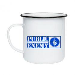Кружка емальована Public Enemy