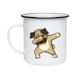 Кружка емальована Pug Swag