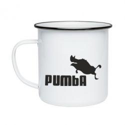 Кружка емальована Pumba