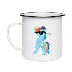 Кружка емальована Rainbow Dash Cool - FatLine