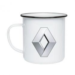 Кружка емальована Renault Logo