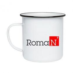 Кружка эмалированная Roman