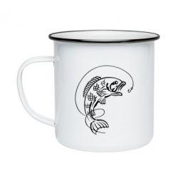 Кружка емальована Риба