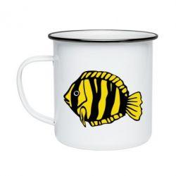 Кружка эмалированная рыбка - FatLine