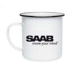 Кружка эмалированная SAAB